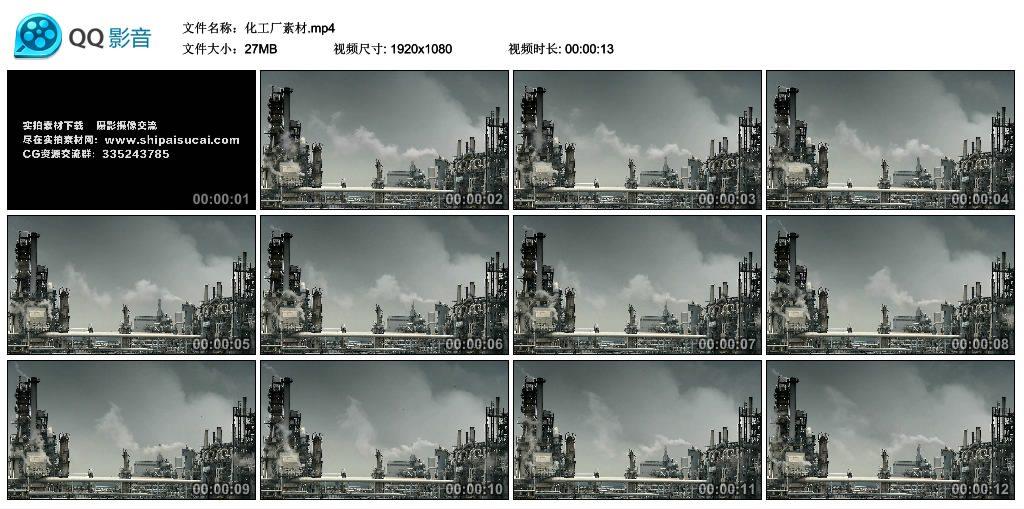 【高清实拍素材】化工厂素材 视频素材-第1张