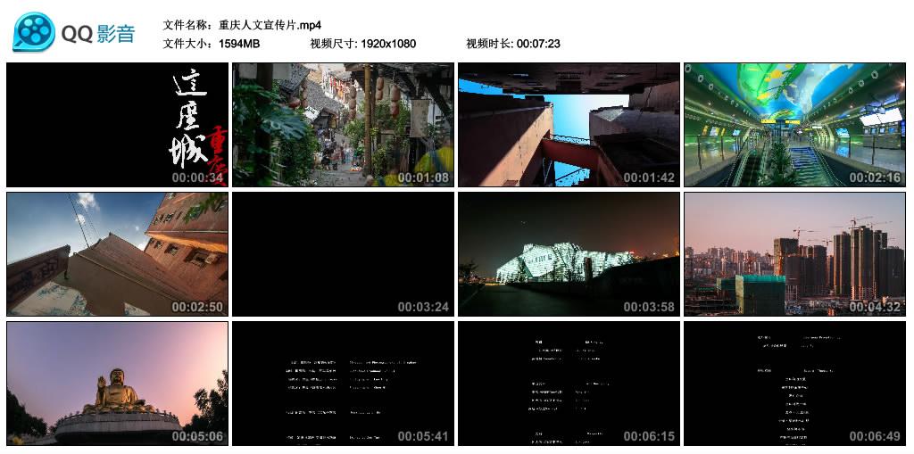 【高清宣传片】重庆人文宣传片 重庆,这座城 视频素材-第1张