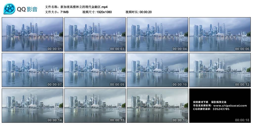 高清实拍视频丨新加坡高楼林立的现代金融区 视频素材-第1张