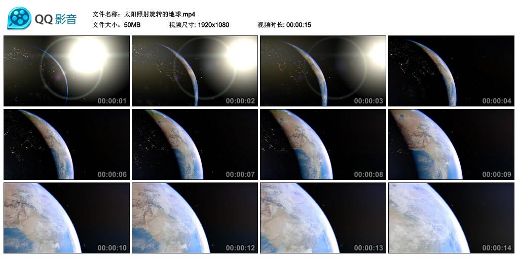 高清实拍视频丨太阳照射旋转的地球 视频素材-第1张