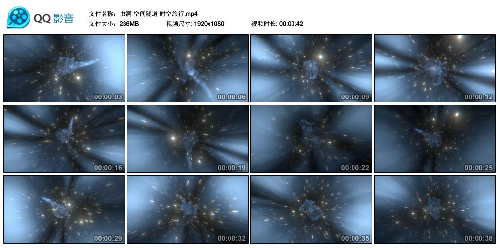 高清实拍视频丨虫洞 空间隧道 时空旅行 视频素材-第1张