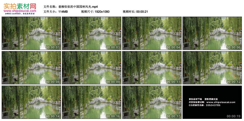 高清实拍视频素材丨垂柳依依的中国园林风光 视频素材-第1张