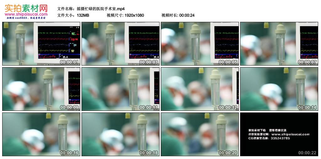 高清实拍视频素材丨摇摄忙碌的医院手术室 视频素材-第1张