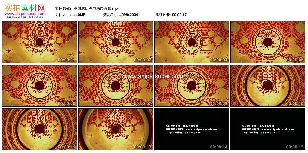4K动态视频素材丨中国农历春节动态背景 4K视频-第1张