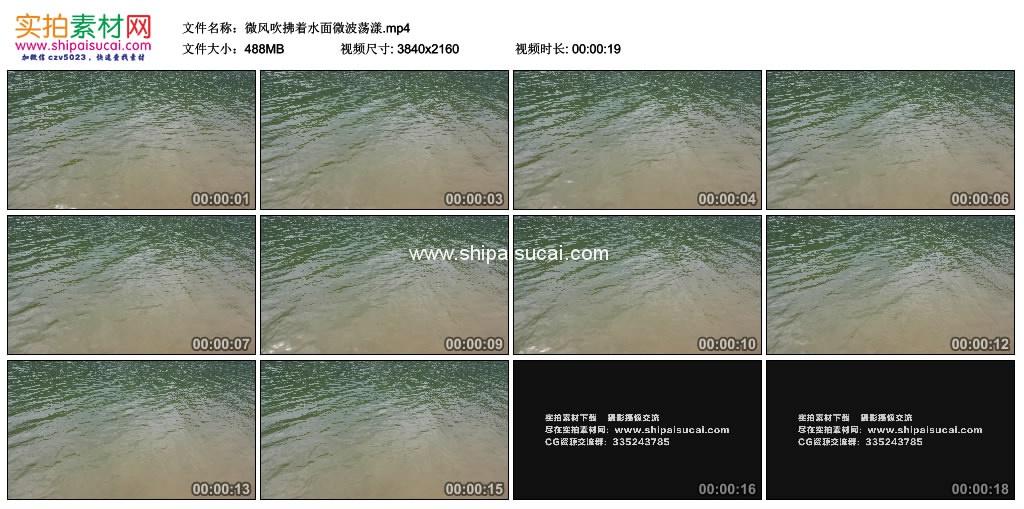 4K实拍视频素材丨微风吹拂着水面微波荡漾 4K视频-第1张