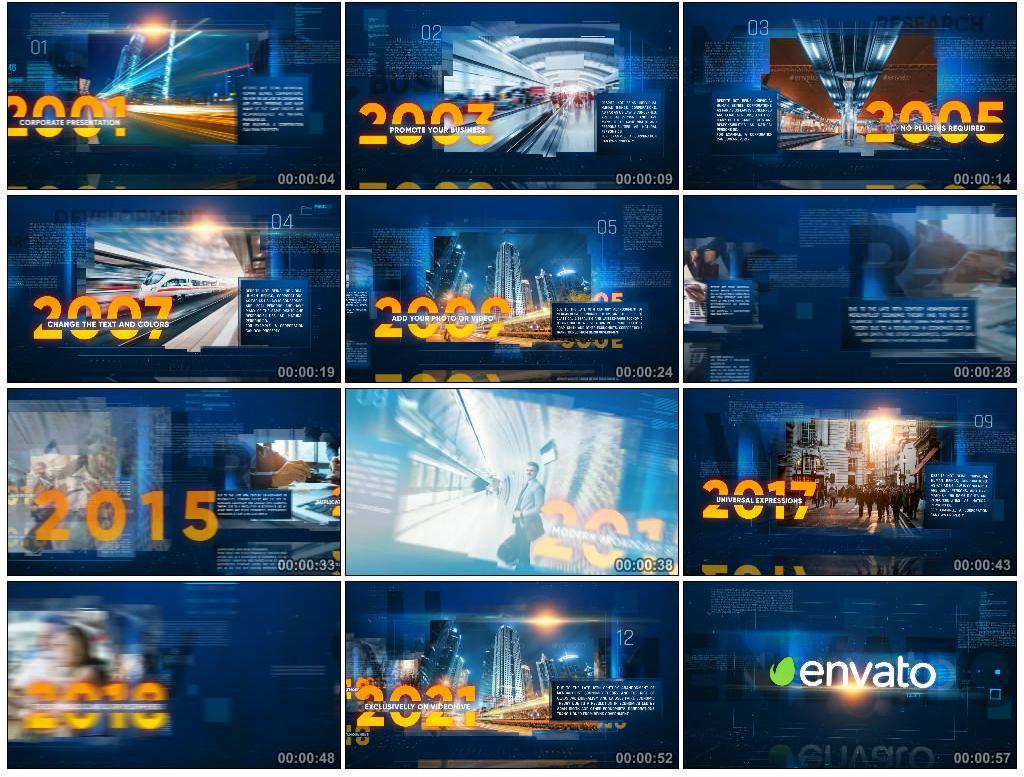 AE模版丨公司发展历程时间线展示模版 视频模版-第1张