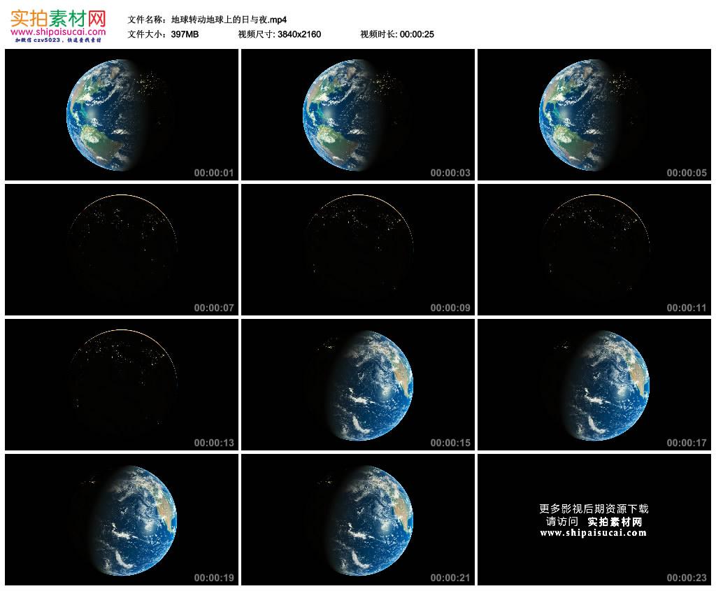 4K实拍视频素材丨地球转动地球上的日与夜 4K视频-第1张