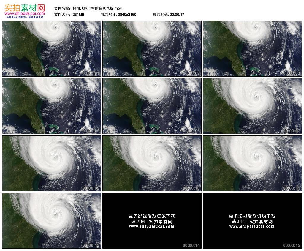 4K实拍视频素材丨俯拍地球上空的白色气旋 4K视频-第1张