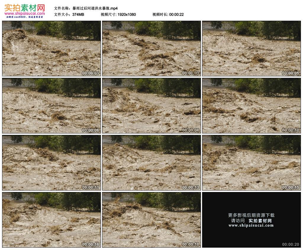 高清实拍视频素材丨暴雨过后河道洪水暴涨 视频素材-第1张