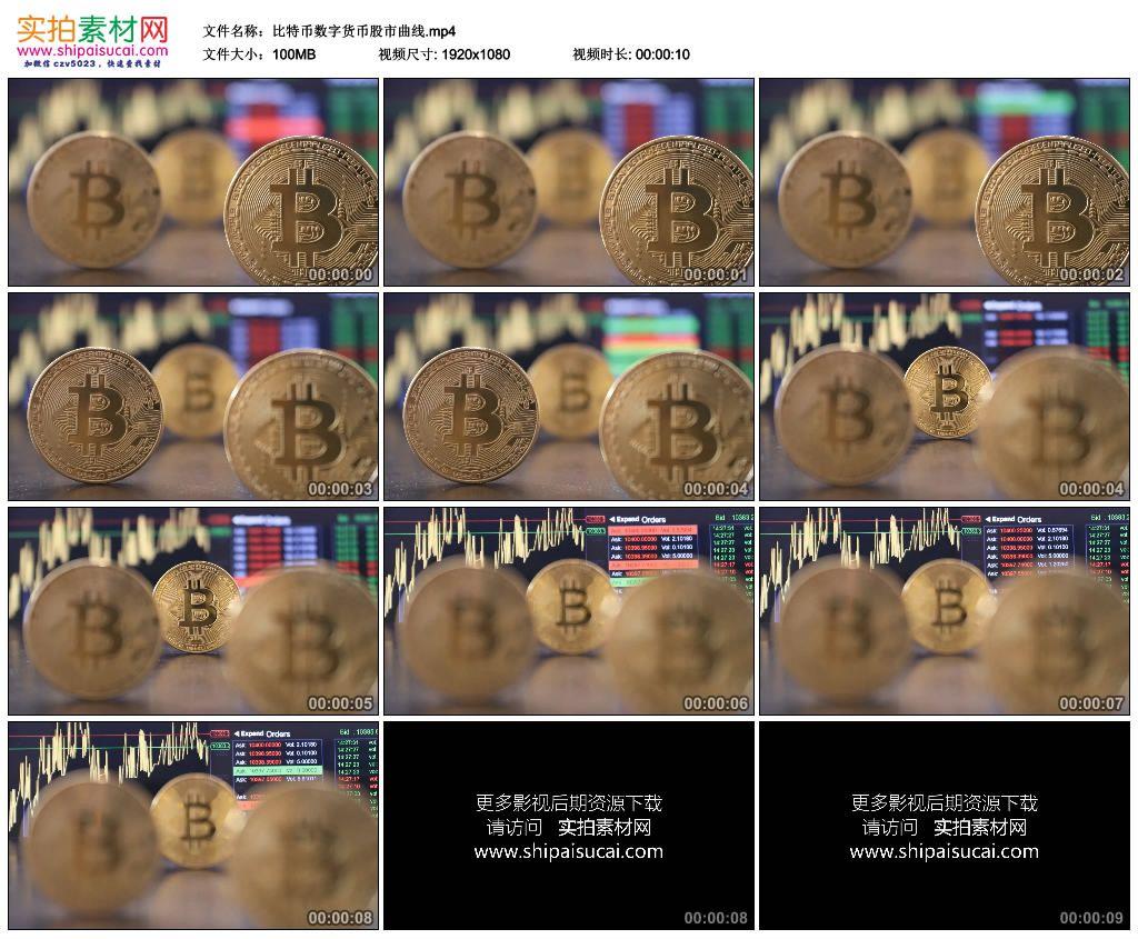 高清实拍视频素材丨比特币数字货币股市曲线 视频素材-第1张