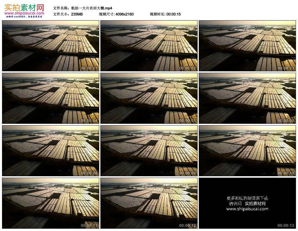 4K实拍视频素材丨航拍一大片农田大棚 4K视频-第1张