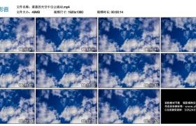 高清实拍视频丨湛蓝的天空中白云流动