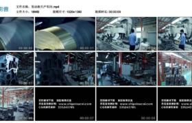 【高清实拍素材】发动机生产车间