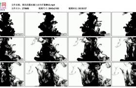 4K实拍视频素材丨黑色的墨水滴入水中扩散飘动