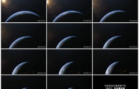 4K实拍视频素材丨宇宙中太阳照射着转动的地球