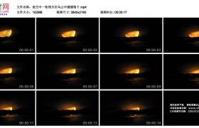4K视频素材丨夜空中一轮残月在乌云中缓缓落下