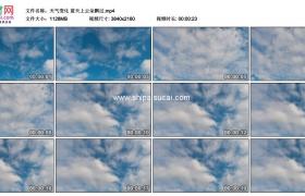 4K实拍视频素材丨天气变化 蓝天上云朵飘过延时摄影