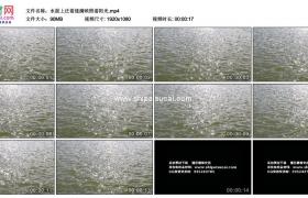 高清实拍视频素材丨水面上泛着涟漪映照着阳光