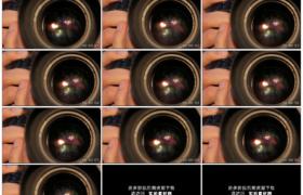 高清实拍视频素材丨特写拍摄时按下相机快门光圈变化