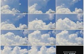 高清实拍视频素材丨晴朗的天空中厚厚的白云涌动延时摄影