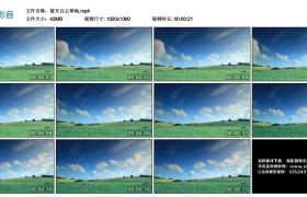 【高清实拍素材】蓝天白云草地