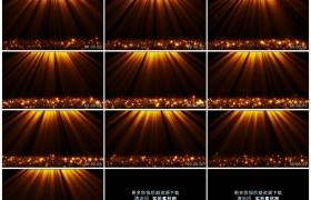 4K动态视频素材丨橘红色的动态发光粒子上升下沉
