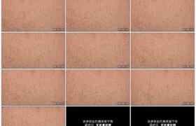 4K实拍视频素材丨移摄抹粉彩灰泥墙纹理