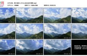 高清实拍视频丨晴天森林上空白云流动延时摄影