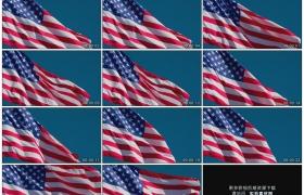 高清实拍视频素材丨美国国旗在阳光中随风飘扬