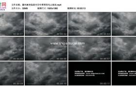 高清实拍视频素材丨暴风雨来临前天空中厚厚的乌云流动
