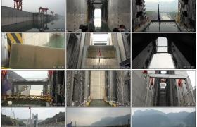 4K实拍视频素材丨轮船驶过中国三峡大坝在长江中航行