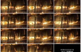高清实拍视频素材丨木柴燃烧火焰升腾