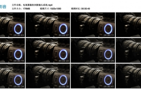 高清实拍视频素材丨摄像机伺服镜头系统