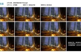 4K视频素材丨夜晚香港的城市车流
