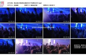 4K实拍视频素材丨晚会演出现场观众随着音乐节拍舞动双手