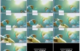 4K实拍视频素材丨医院手术室无影灯下两个医生给病人做手术主观镜头
