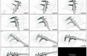 4K实拍视频素材丨设计图纸和卡尺