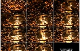高清实拍视频素材丨打碎咖啡豆四处飞溅慢镜头