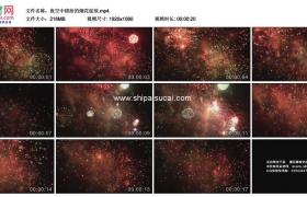 高清实拍视频素材丨夜空中缤纷的烟花绽放