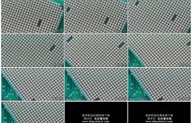 4K实拍视频素材丨特写计算机中央处理器cpu的特写镜头针脚触点