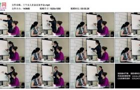 高清实拍视频丨三个女人在会议室开会