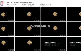高清实拍视频素材丨一轮圆圆的明月从树梢后缓缓升起