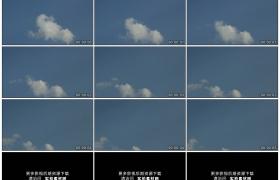 高清实拍视频素材丨一朵白云从蓝天上飘过