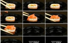 4K实拍视频素材丨特写吃日式料理寿司