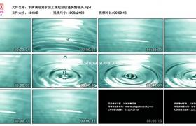 4K实拍视频素材丨水滴滴落到水面上荡起层层涟漪慢镜头