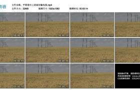 高清实拍视频丨平原麦田上的高压输电线