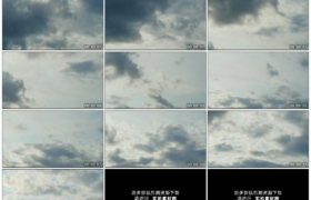4K实拍视频素材丨天空中乌云涌动延时摄影
