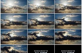 4K实拍视频素材丨天空中乌云流动遮住太阳