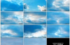 4K实拍视频素材丨晴朗的天空中云朵快速流动延时摄影