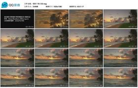 [高清实拍素材]朝阳下的大海